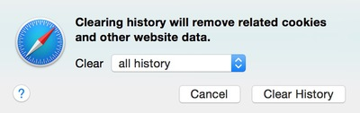Safari清除历史记录