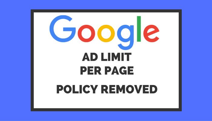 google adsense广告数量新政策
