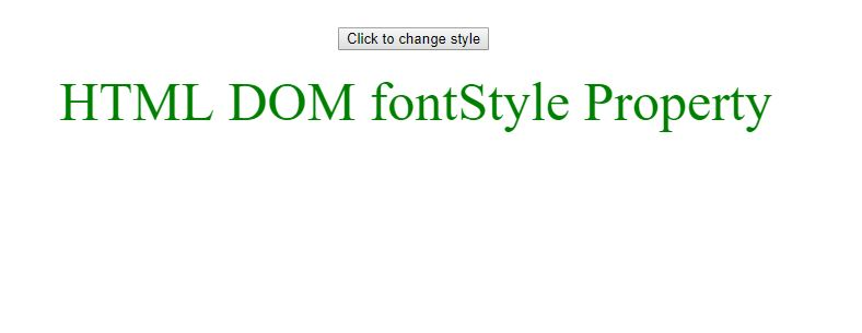 DOM fontstyle before gfg
