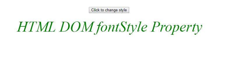 DOM fontstyle after gfg