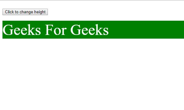 HTML DOM Height Before gfg