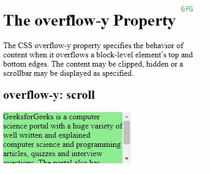 overflow-y:scroll