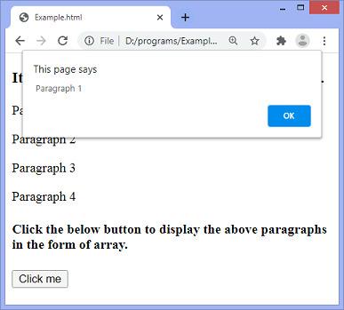 jQuery toArray() method